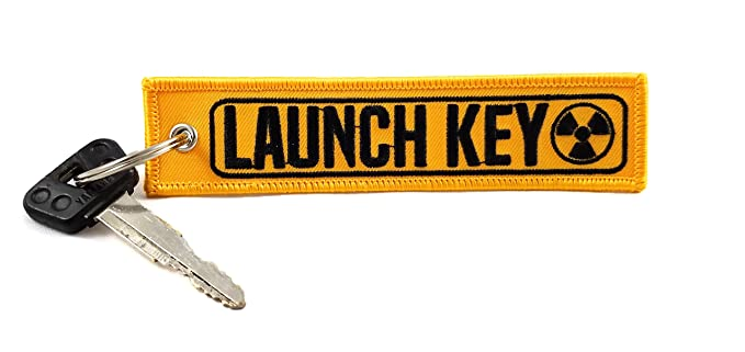 Cg Keytags Unique Key Chains for Motorcycles, Scooters, Cars, Gifts, and More (Launch Key) (1)