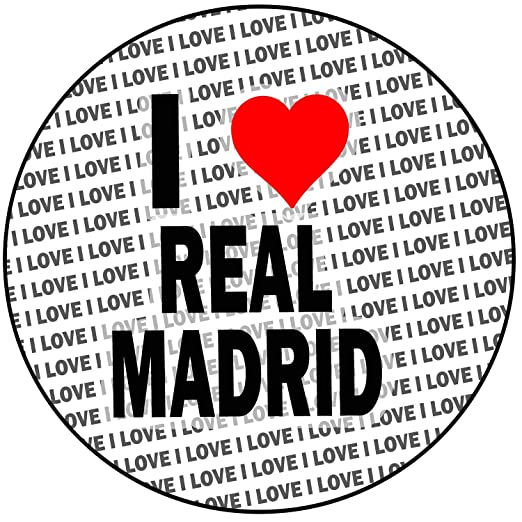 AK Giftshop I Love Real Madrid - Decoración Redonda para ...