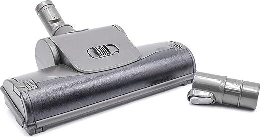 vhbw Cepillo boquilla turbo 28cm para suelos para aspirador conexión 32mm, conector para Dyson + adaptador, gris: Amazon.es: Hogar