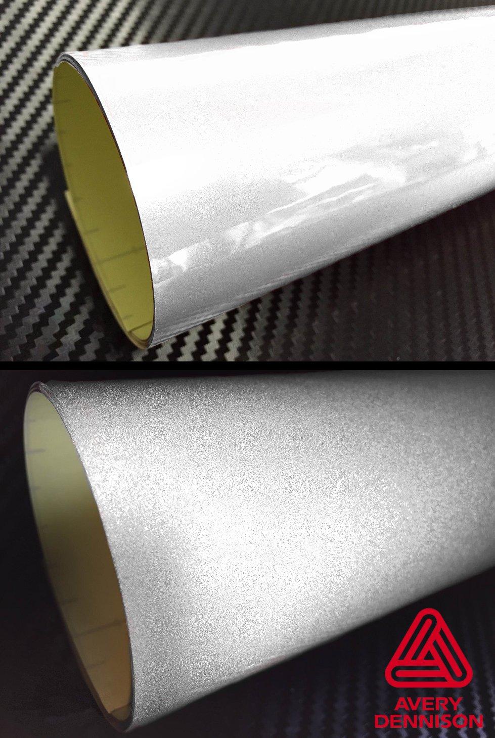 Averyホワイト反射粘着Automotive Detailingビニールラップロール 12