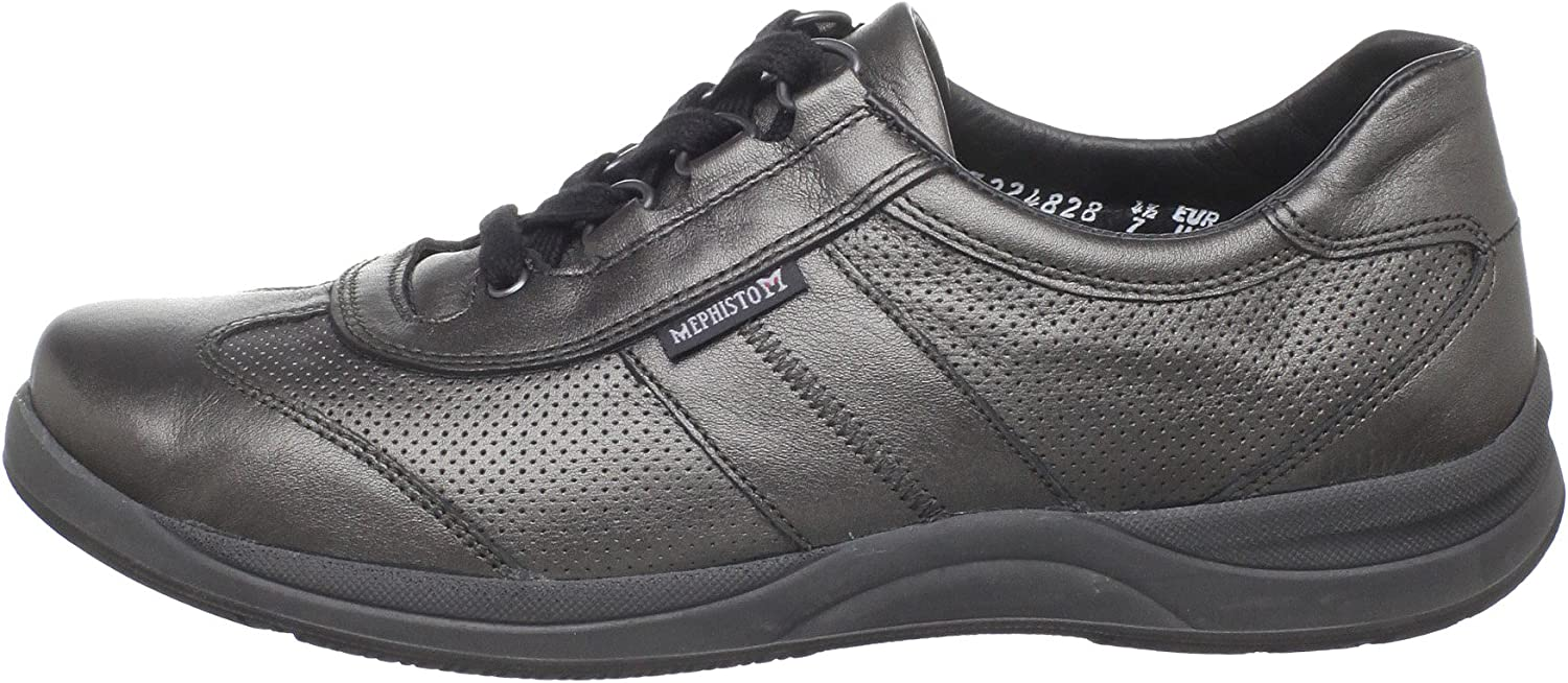 Mephisto Women's Laser Perforated Sneaker Grey Perl