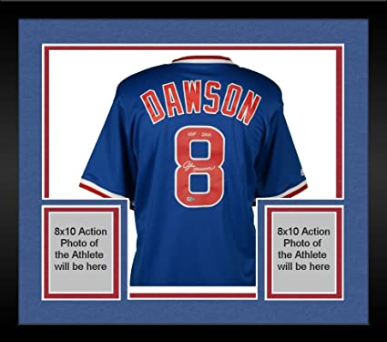 2a1c879dd Framed Andre Dawson Chicago Cubs Autographed Majestic Blue Cooperstown  Collection Replica Jersey with quot HOF 2010 quot