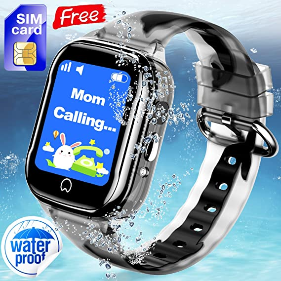 2ef4b6892 Waterproof Kids Smart Watch Phone  Free SIM Card  - Smartwatch GPS Tracker  for Boys