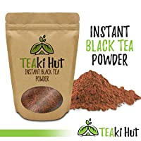 TEAki Hut Instant Black Tea Powder 4 Ounce (200 Servings) | 100 Percent Pure Ground Tea No Fillers, Additives or Artificial Ingredients of Any Kind