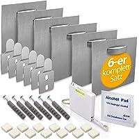 MOISHO® [Set van 6] zelfklevende aluminium dibond en acrylglasfoto bevestigingsset compleet voor foto's en spiegels…