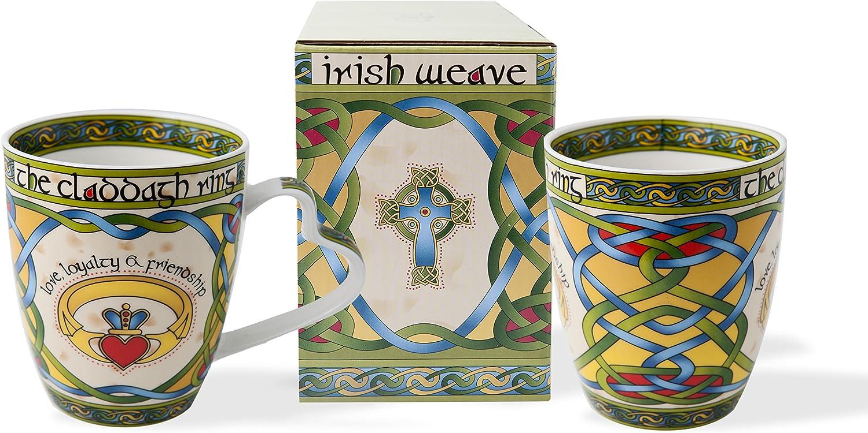 Irish Claddagh Mug Set of Two with Irish Gift Box
