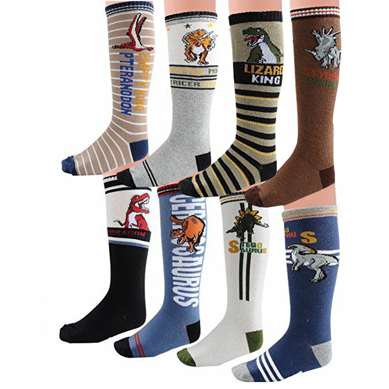 Honanda Boys Funny Cotton Cartoon Style Knee High Socks M 15 19cm