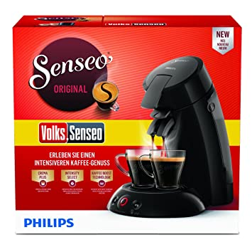 Senseo HD6554/69 - Cafetera (Independiente, Máquina de café en cápsulas, 0,7 L, Dosis de café, 1450 W, Negro): Amazon.es: Hogar