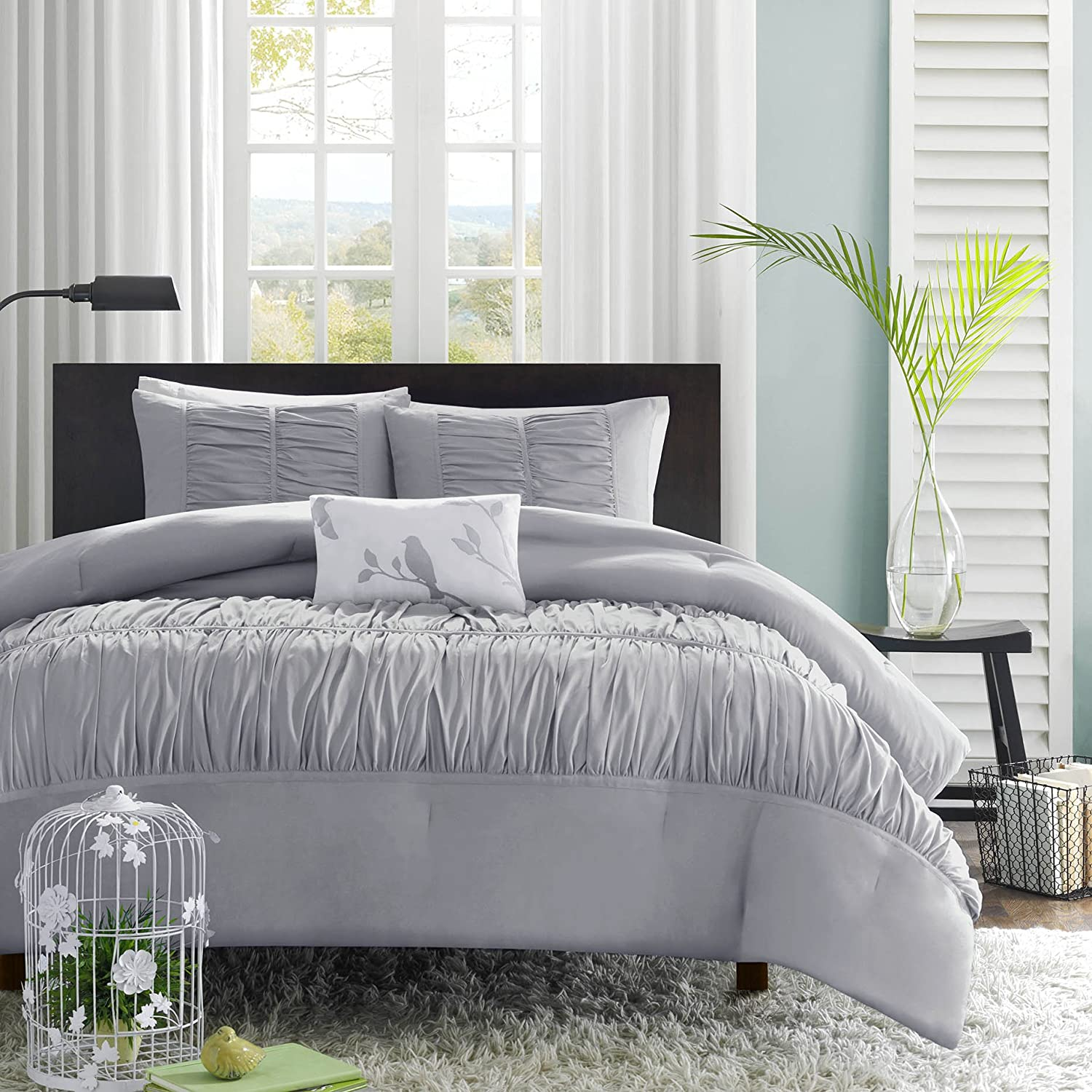 queen sets bedding color grey comforter gray looking size good
