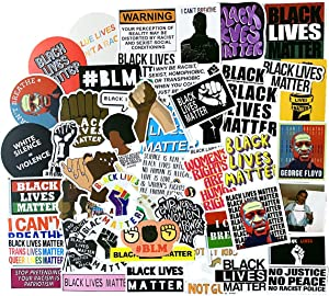 Black Rights Stickers, Women & Children Rights Stickers 50pcs, Black Lives Matter Anti-Racism BLM Movement Bumper Sticker or Decal, for Water Bottle Car Truck Van Wall Laptop Cup (Human Rights)