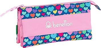 Estuche de Benetton Cuori Oficial Escolar safta 811928744: Amazon.es: Equipaje
