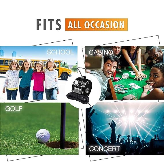Amazon.com: Clicker de mano para contador de palos de golf ...