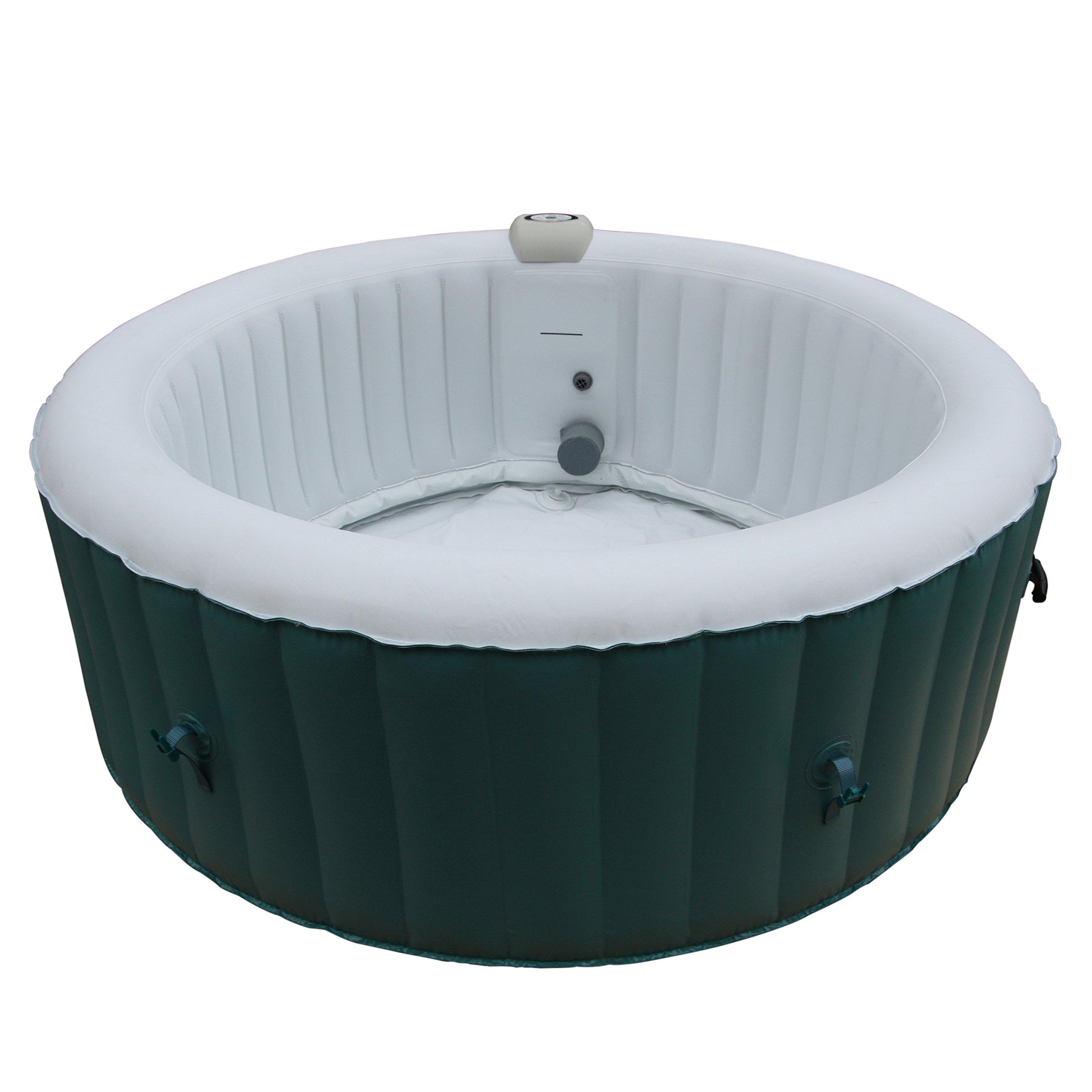 ALEKO HTIR4BLL Round Inflatable Hot Tub Personal Spa, 4 Person, 215 Gallon, Light Blue by ALEKO