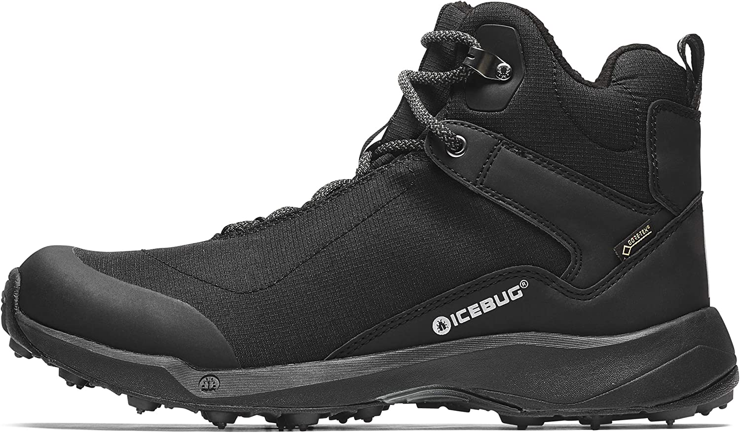Icebug Mens Pace3 BUGrip GTX Hiking Boot with Carbide Studded Traction Sole