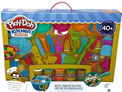 Play Doh Kitchen Creations Ultimate Chef Set 40 Pieces Clay