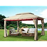 Greenbay 3x4m Gazebo Marquee Party Tent Reception Canopy Awning Sun Shelter Screen Outdoor Wedding Sides Outdoor Furniture