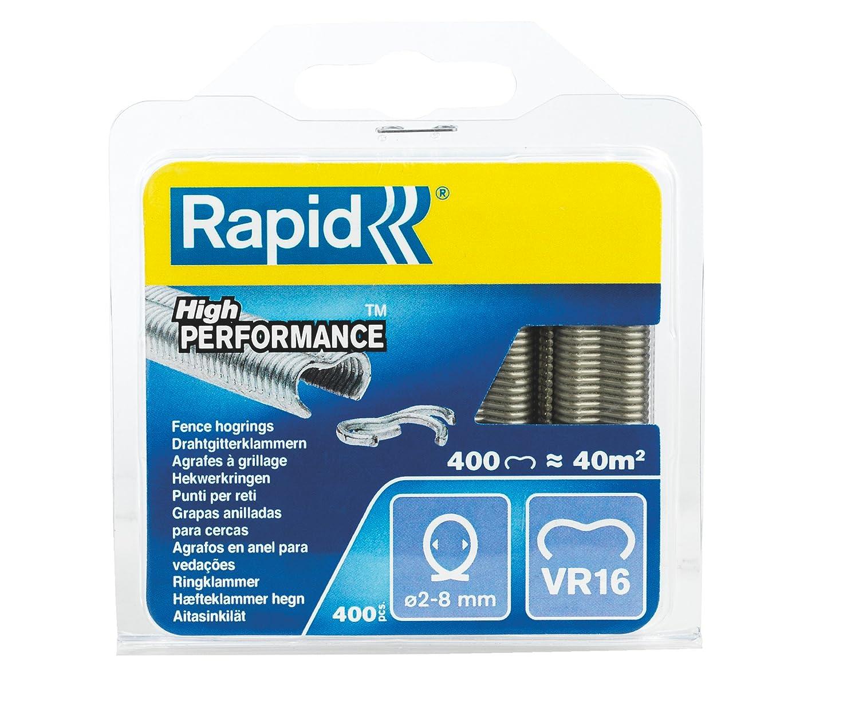 Gr/üne Kunststoffbeschichtung Rapid VR16 Drahtgitterklammern 3190 St/ück