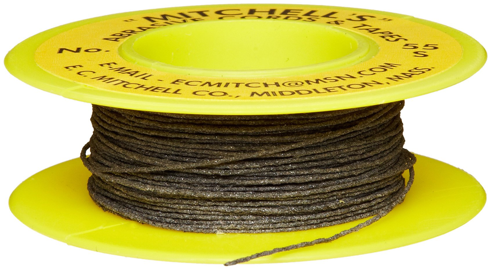 Mitchell Abrasives 55-S Round Abrasive Cord, Silicon Carbide 200 Grit .018'' Diameter x 50 Feet
