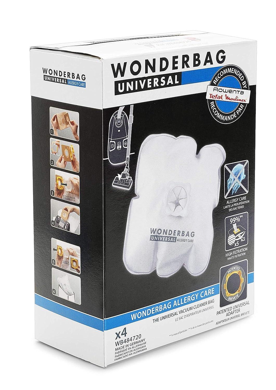 Rowenta Wonderbag Allergy Care WB484720 Pack de 5 bolsas para aspirador con 1 adaptador reutilizable