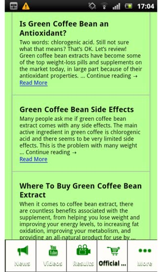 Amazon Com Green Coffee Bean Extract Appstore For Android