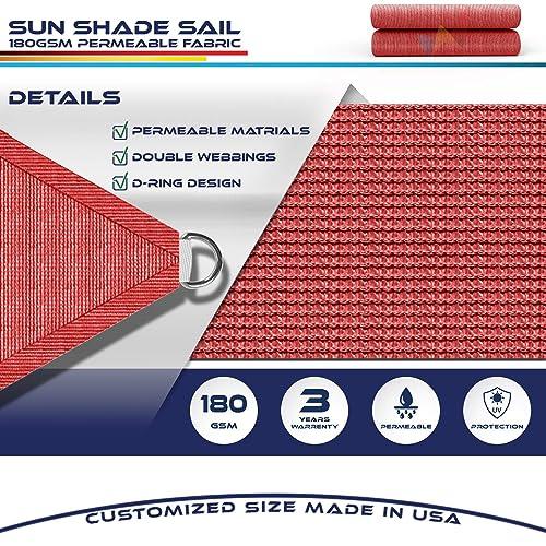 Windscreen4less 20 x 20 x 20 Sun Shade Sail Canopy