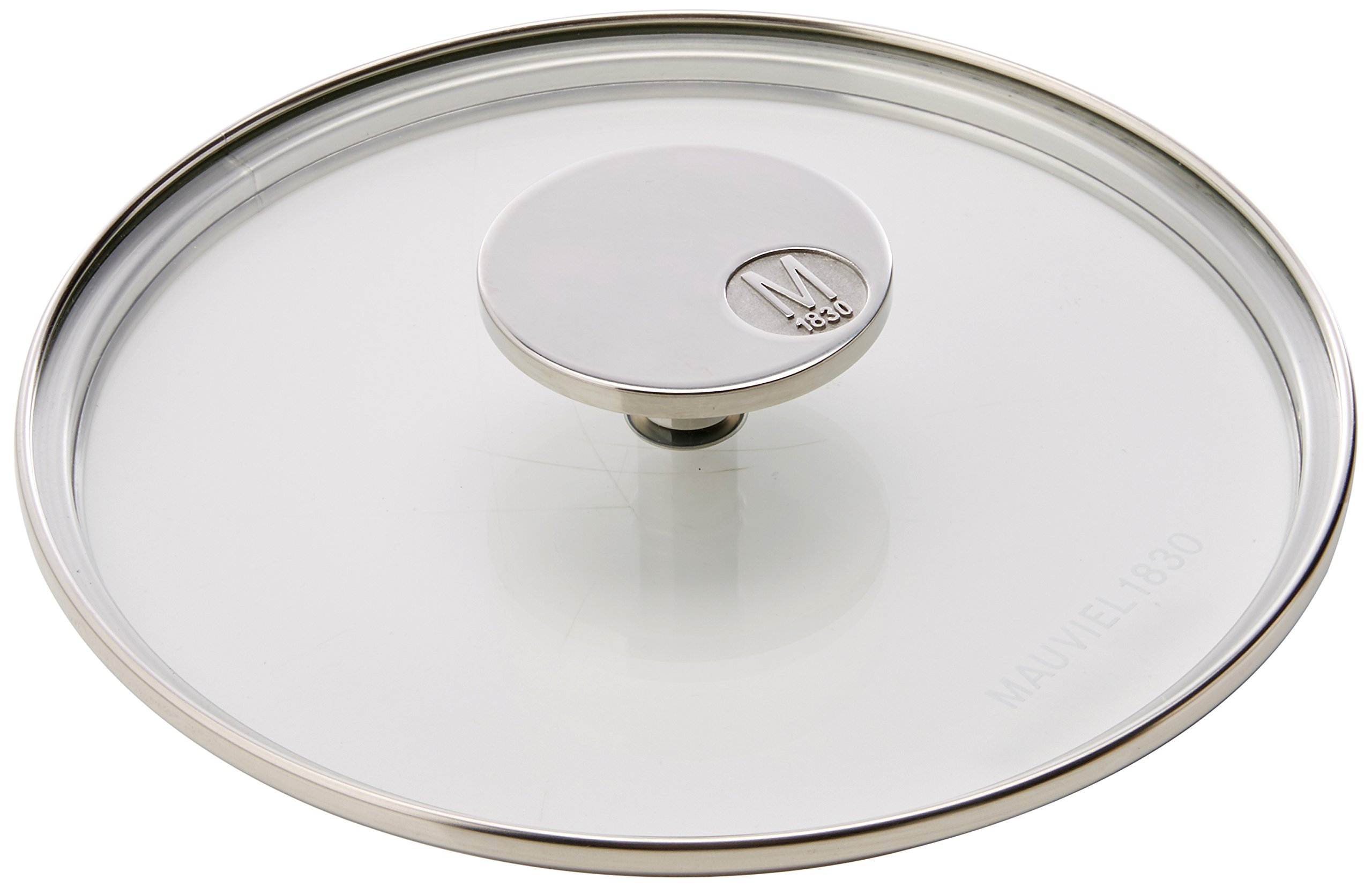 Mauviel Made In France M'360 5318.18 7-Inch Glass Lid with Cast Stainless Steel