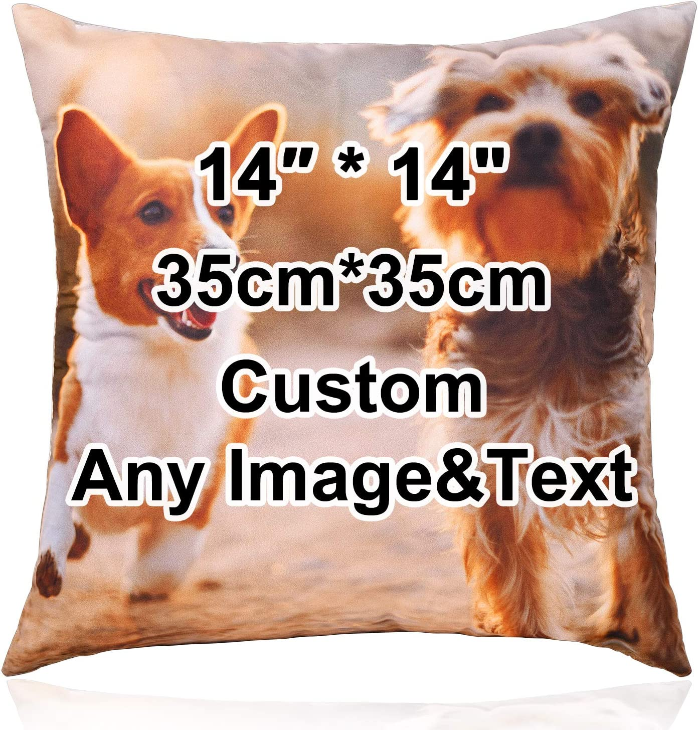 Custom4U Personalized Photo Throw Pillow Cases Bedroom Accessories Custom Any Image Cushion Cover Customizable Home Decor DIY Graphic Pillow Case for Housewife