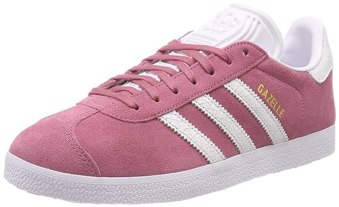 adidas Damen Gazelle Sneaker Pink/Rosa mit weißen Streifen