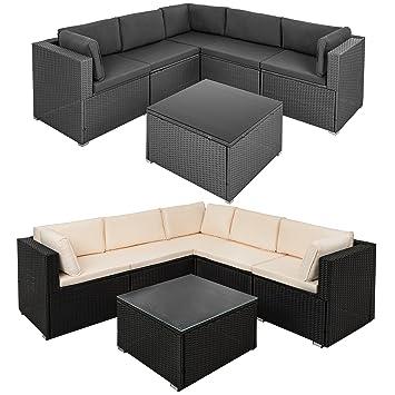 Sehr Amazon.de: ESTEXO Luxus Polyrattan Lounge, Garnitur/Sitzgruppe Set AX56
