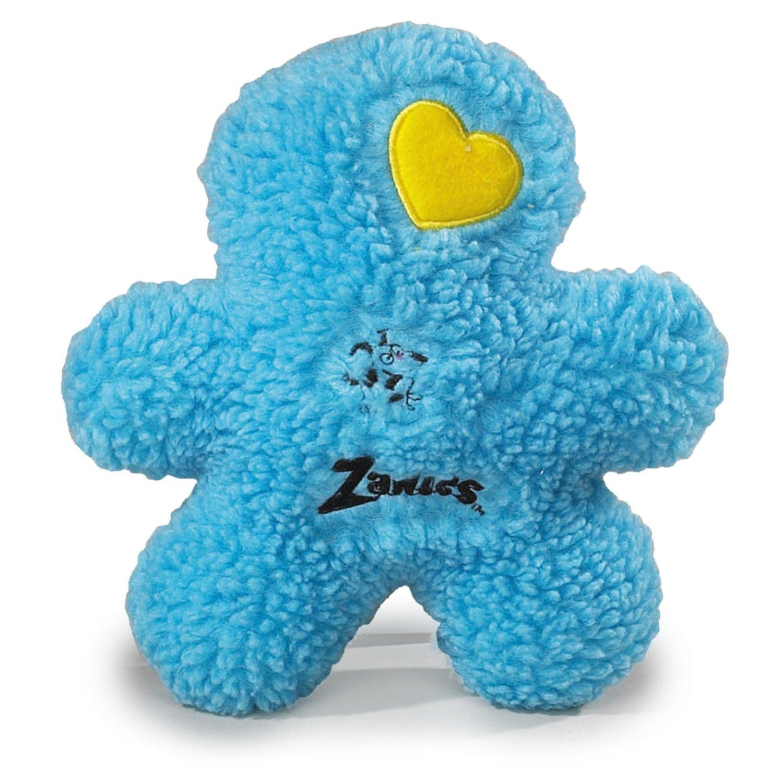 bluee Zanies Embroidered Berber Boy Dog Toys, bluee