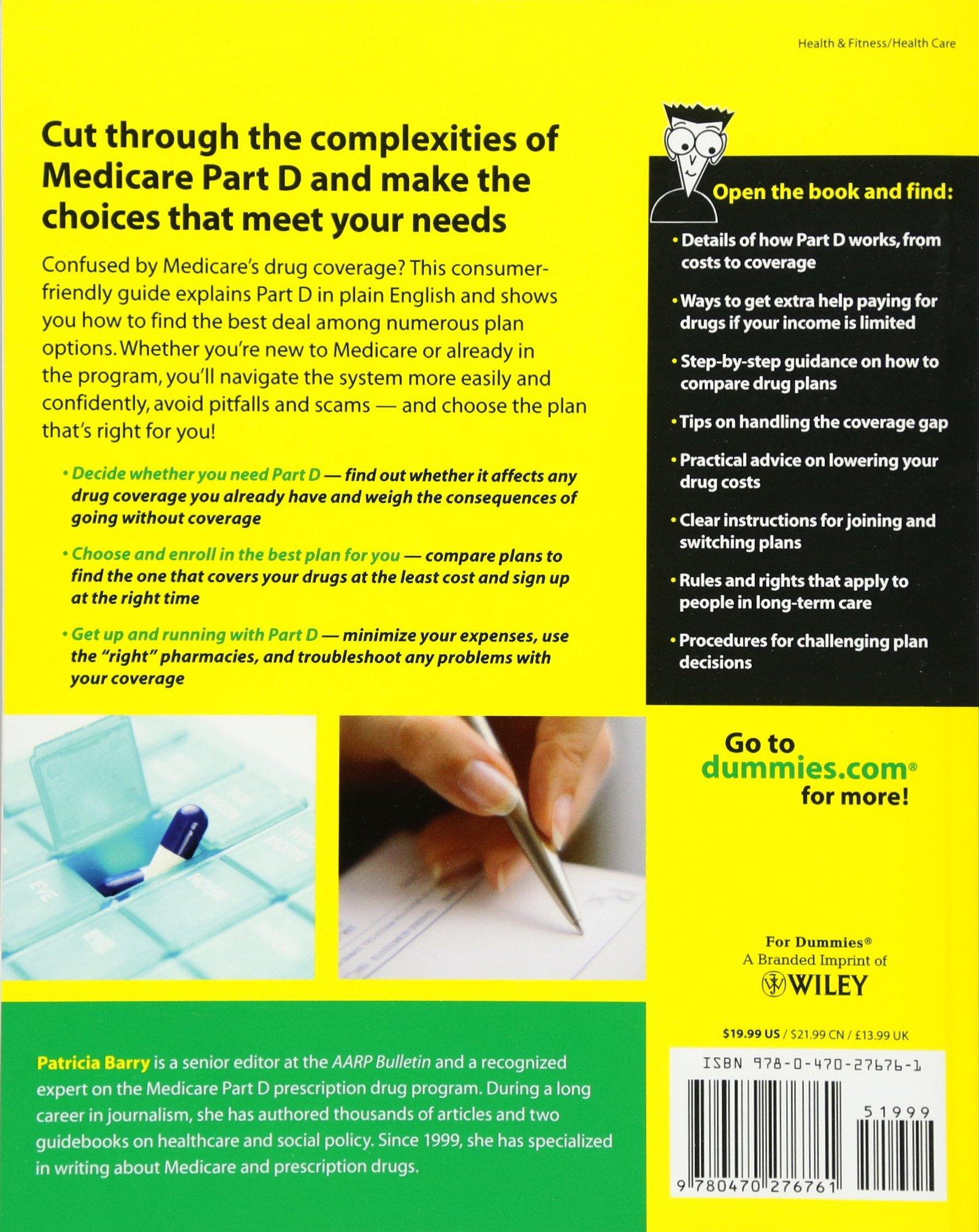 Medicare Prescription Drug Coverage For Dummies: Patricia Barry:  9780470276761: Amazon: Books