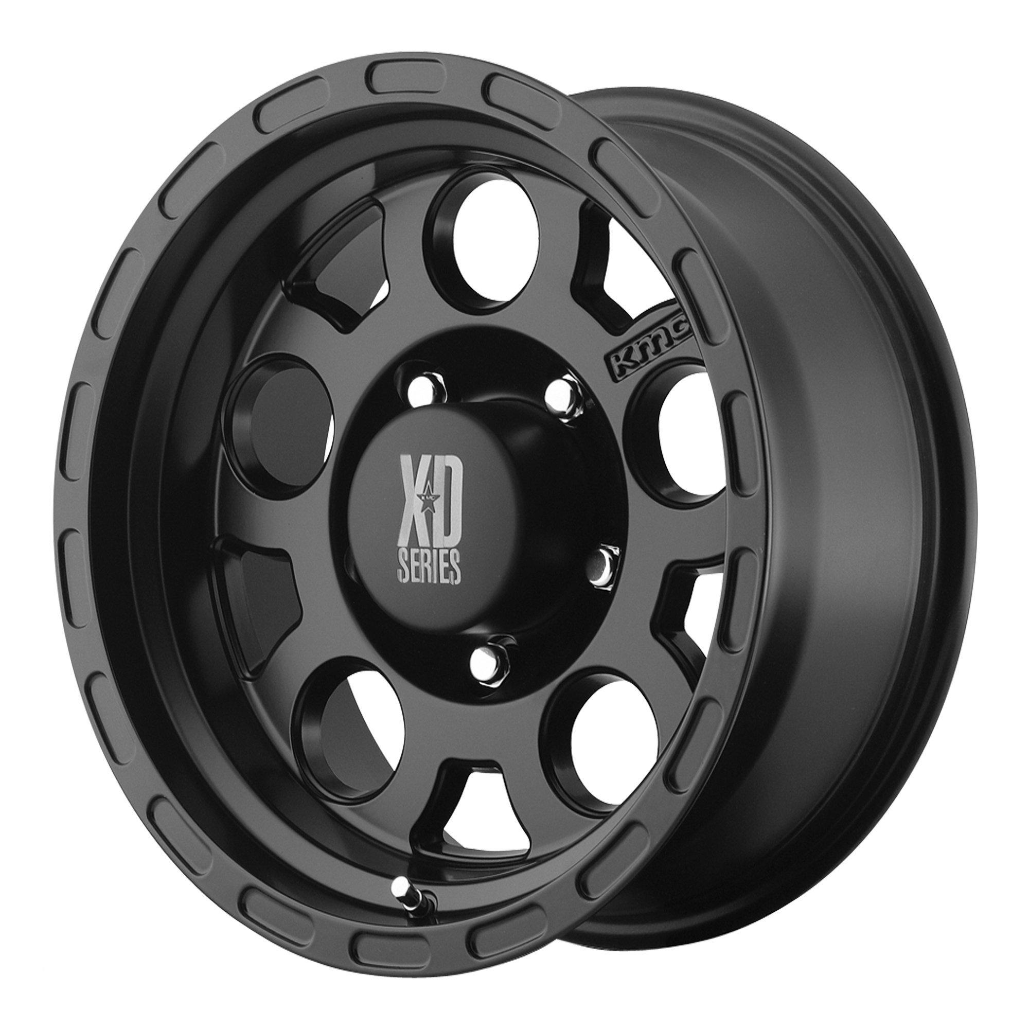 XD Series by KMC Wheels XD122 Enduro Matte Black Wheel (15x9''/5x127mm, -12mm offset)