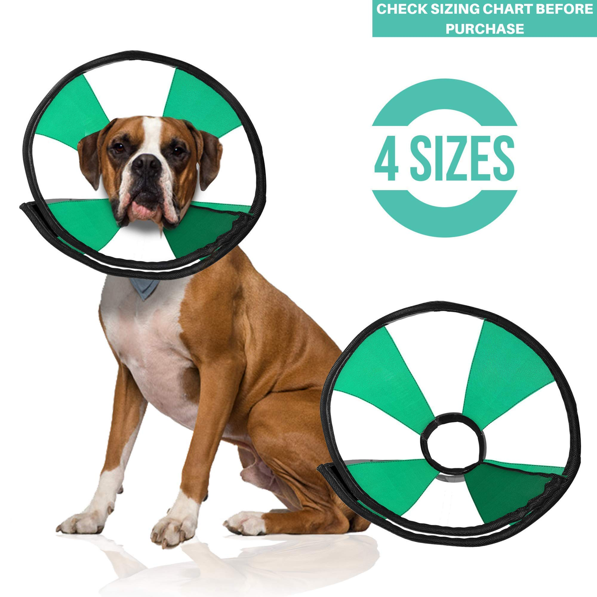 ProCollar Pet Recovery Cone E-Collar for Dogs and Cats - Comfortable Soft Collar is Adjustable for a Secure and Custom Fit - Easy for Pets to Eat and Drink - Works with Your Pet's Collar (Medium) by ProCollar