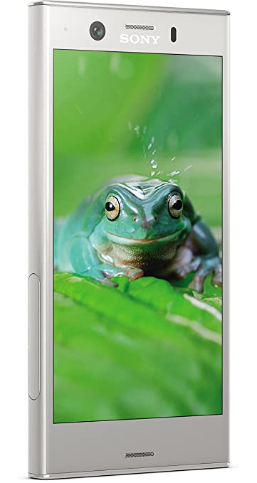 Sony Xperia XZ1 Compact Smartphone (11,65 cm (4,6 Zoll) Triluminos Display 19MP Kamera, 32GB Speicher, Android) Silber - Deut