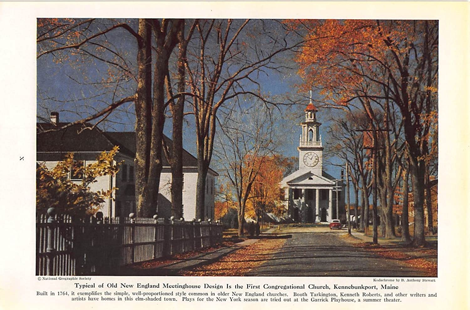 Amazoncom Print Ad 1945 Typical Of Old New England Meetinghouse