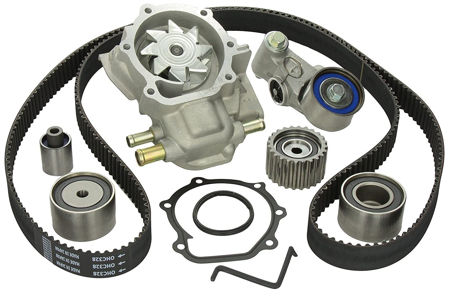 Gates Tckwp328 Engine Timing Belt Kit With Water Pump Ej20k Jdm Pulleys Automotive