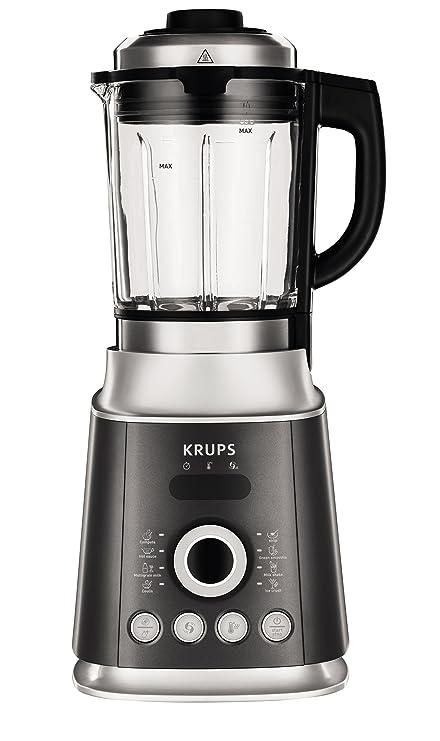 Krups KB852E Batidora de vaso 2L 1300W Negro, Plata - Licuadora (2 L,