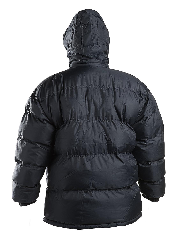 Lion Force Mens Warm Puffer Coat Heavy Winter Jacket Removable Hood Polar Fleece Lining