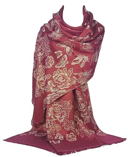 GFM® Diseño de la mariposa de GFM en la bufanda del estilo del pashmina (BF)