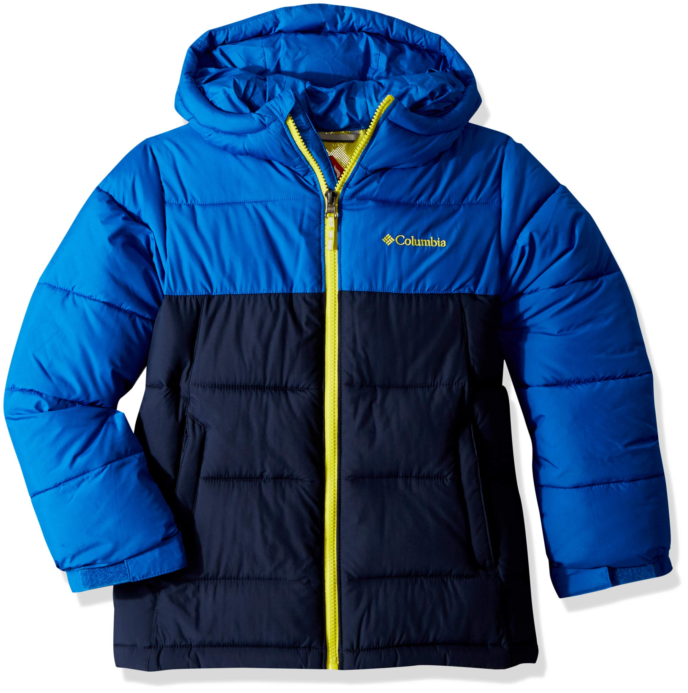Columbia Big Boy's Pike Lake Jacket, Medium, Super Blue/Collegiate Navy