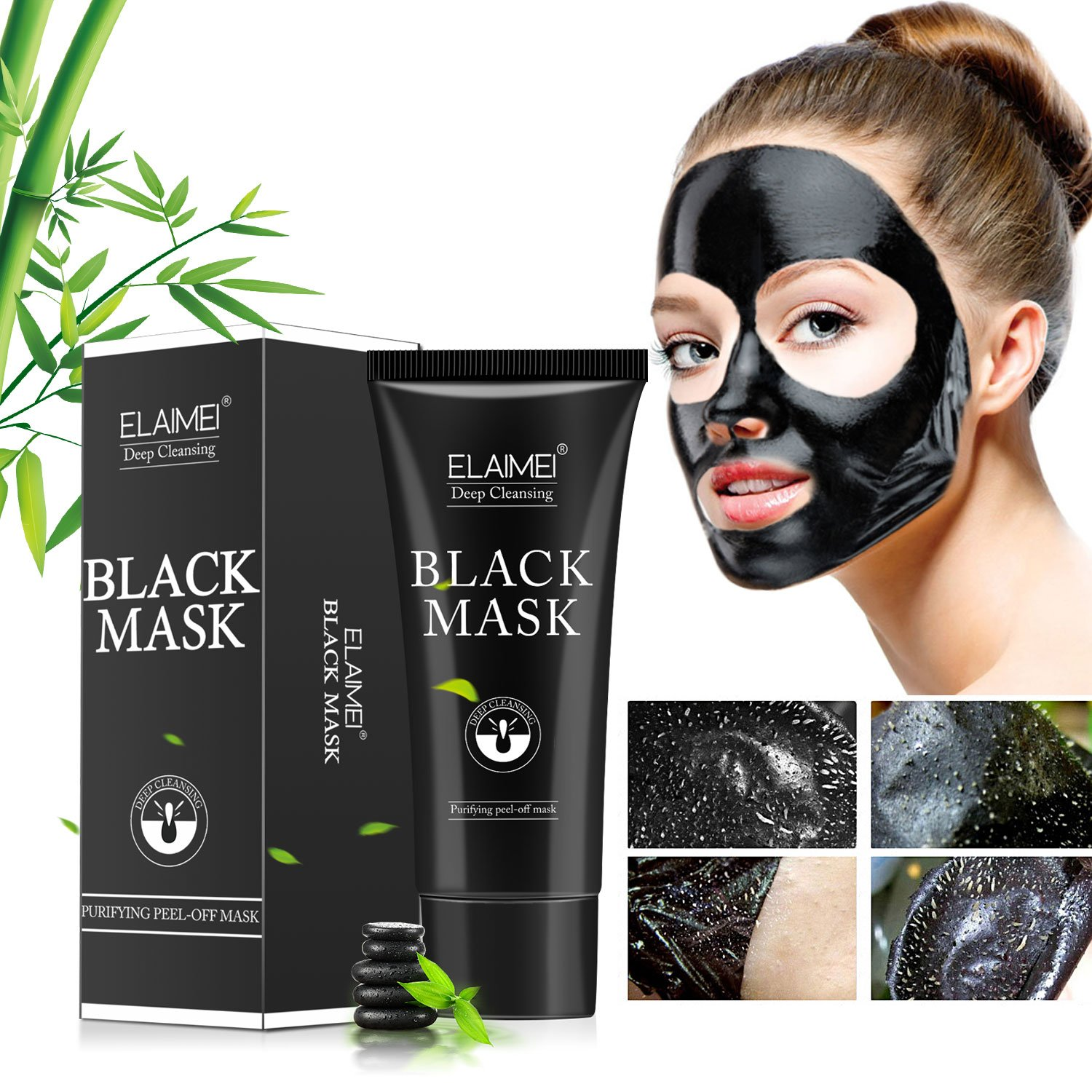 Charcoal white black mask