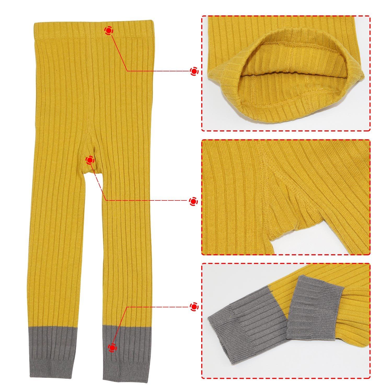 BOOPH 3 Pack Baby Girls Legging Pant Footless Knit Tight Pantyhose Stocking 1-7T
