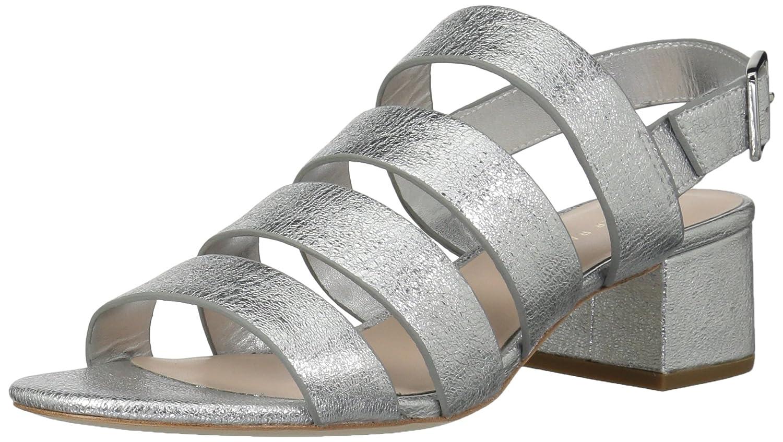 Loeffler Randall Women's Mavis (Crinkle Metallic) Heeled Sandal B074JLSM46 5 B(M) US|Silver