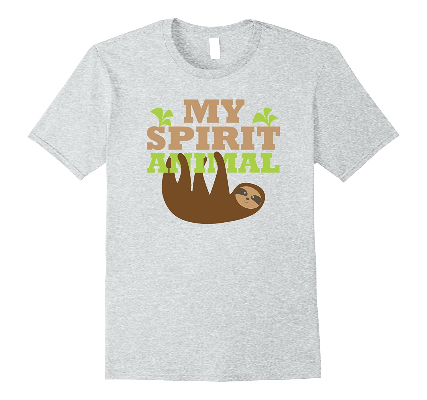 7253483dd My Spirit Animal is a Sloth T Shirt Cute Hanging Sloths Tee-CL ...