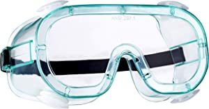 NoCry Anti-Fog Vented Safety Goggles for Men and Women, with Clear Lenses, an Adjustable Headband and UV Protection, ANSI Z87.1 Approved