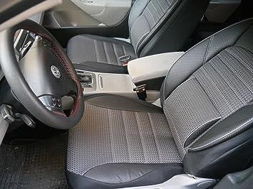Sitzbezug Sitzbez/üge k-maniac Autositzbez/üge Set Komplett No 1A Auto Zubeh/ör f/ür Frauen und M/änner Universal Schwarz Grau Kfz Tuning Sitzschoner Autozubeh/ör Innenraum