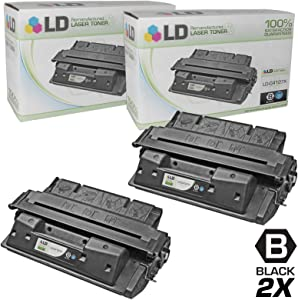 LD Remanufactured Toner Cartridge Replacement for HP 27X C4127X High Yield (Black, 2-Pack)