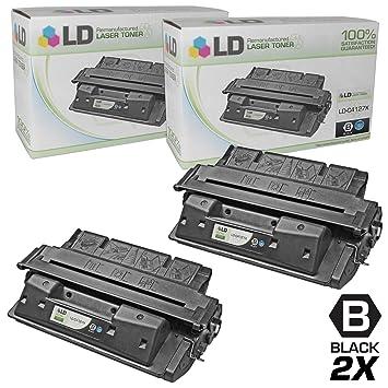 2pk Remanufactured Toner Cartridge for HP 27X C4127X LaserJet 4000 n Printer
