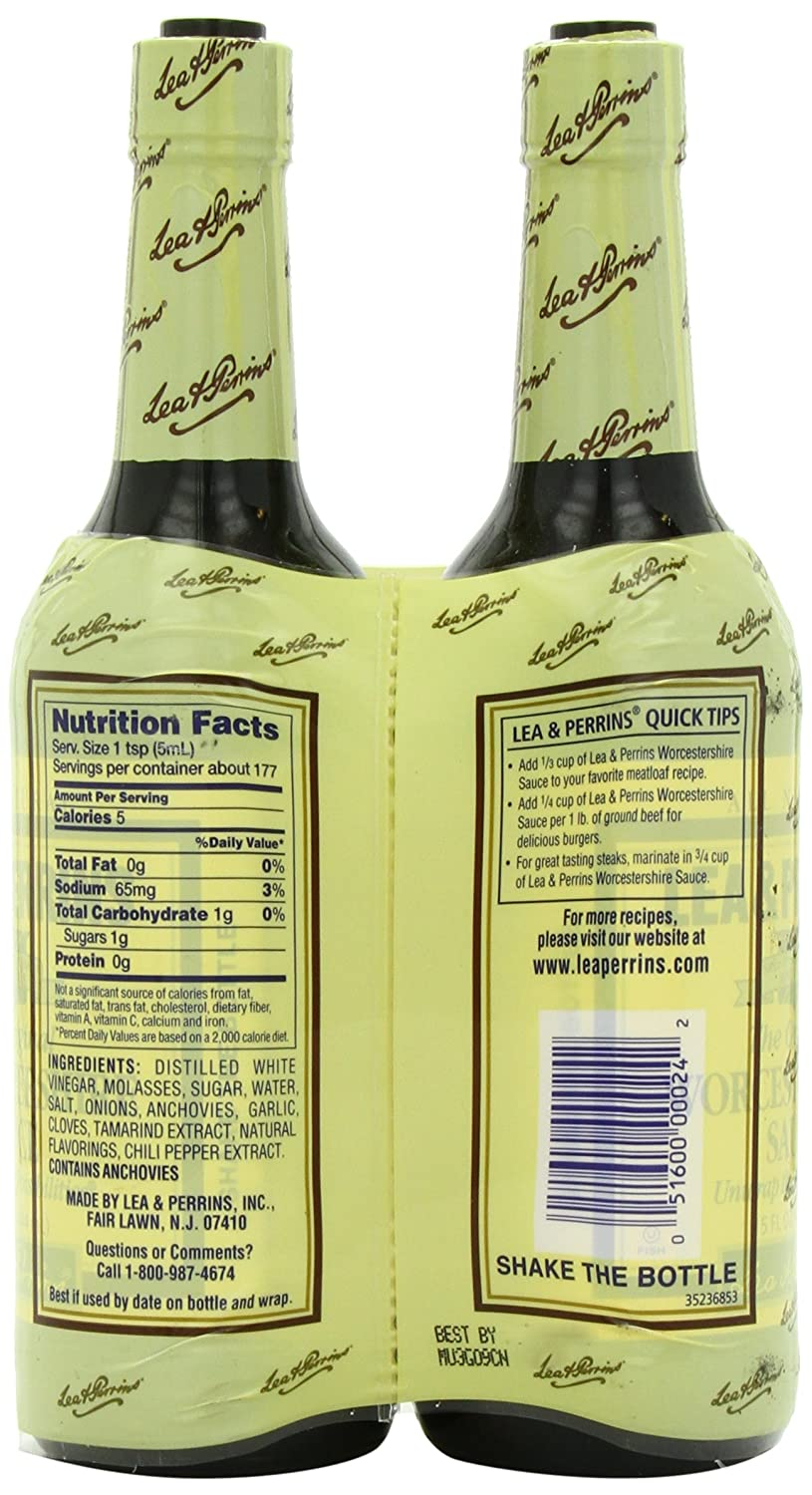 Amazon Com Lea Perrins Original Worcestershire Sauce 15 Fl Oz Pack Of 2 Grocery Gourmet Food
