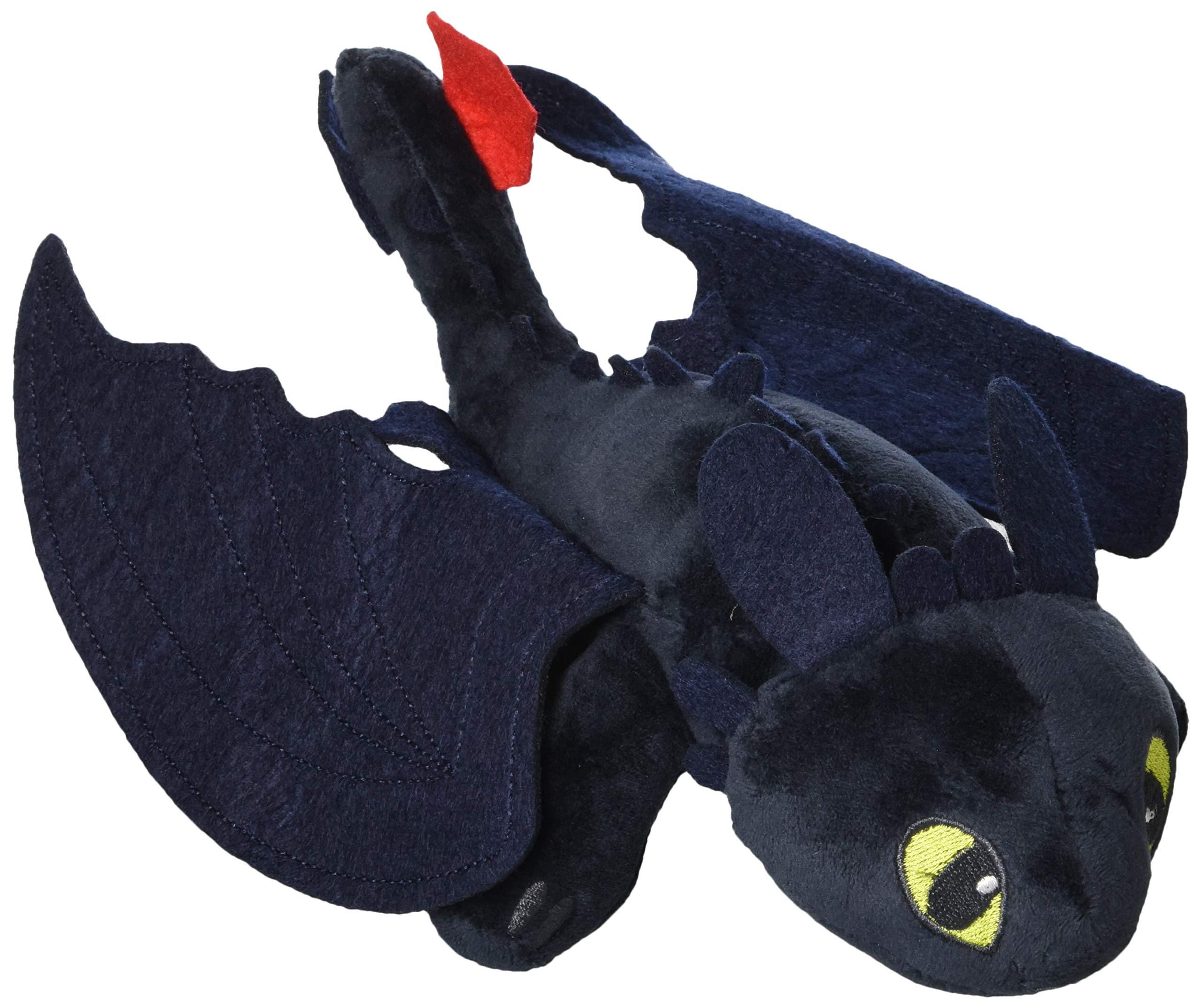 cddf181b7bd Amazon.com  Toothless Night Fury 1 Train 2 Stuffed Animal Plush Doll Toy  Dragons Defenders of Berk  Toys   Games